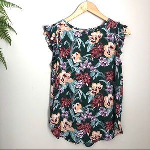 Loft Floral Print Top